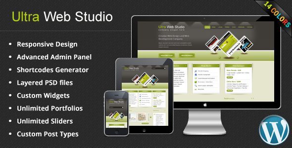 Ultra Web Studio, Blog & Portfolio Wordpress Theme - Creative WordPress