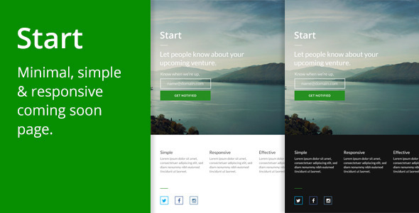 Landing Page Templates - Start - <p>Coming Soon Page </p>