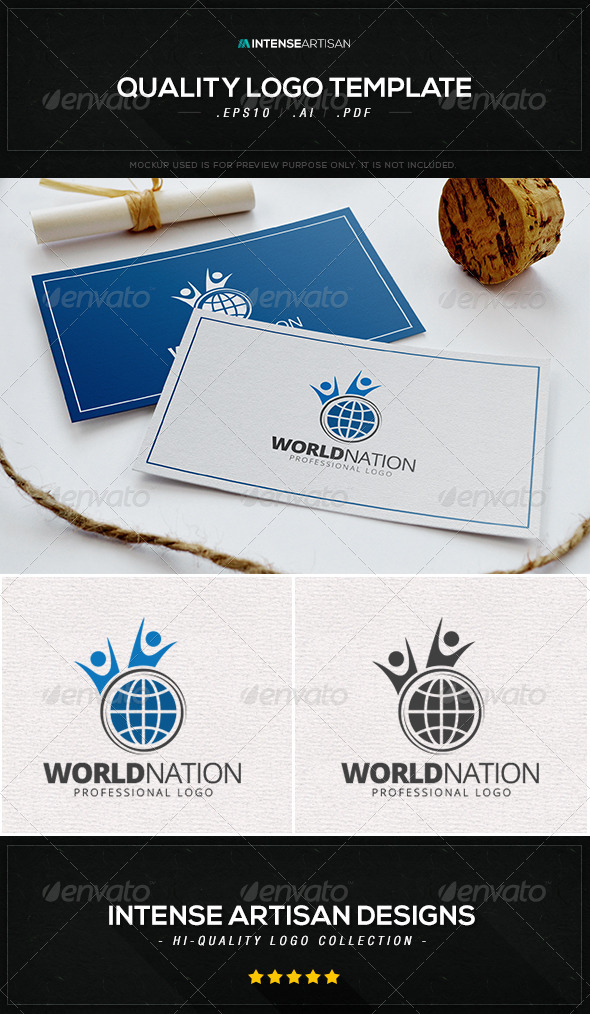 World Nation Logo Template