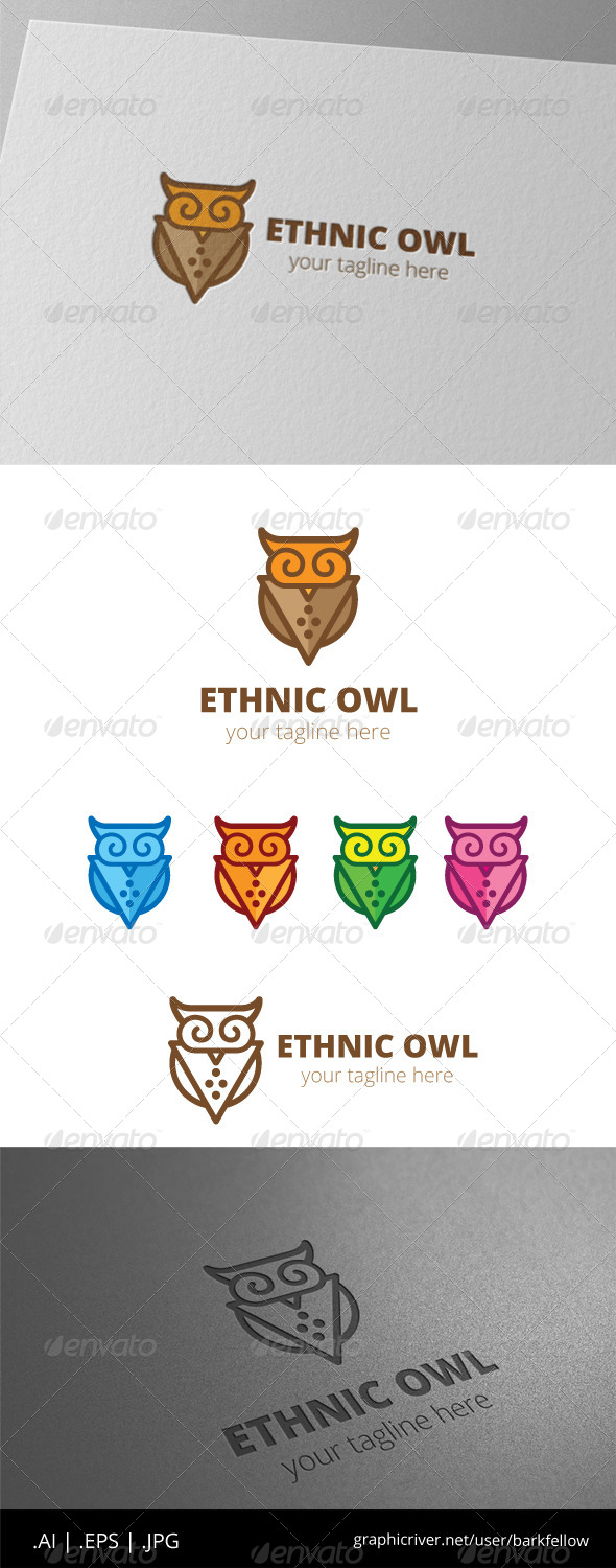 GraphicRiver African Ethnic Owl Logo 8536853