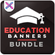 Education Banner Set Bundle - 4 sets - GraphicRiver Item for Sale