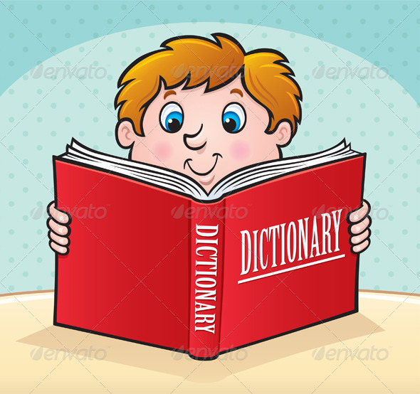 GraphicRiver Kid Reading a Dictionary 8536877
