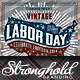 Vintage Labor Day Woodcut Flyer Template - GraphicRiver Item for Sale