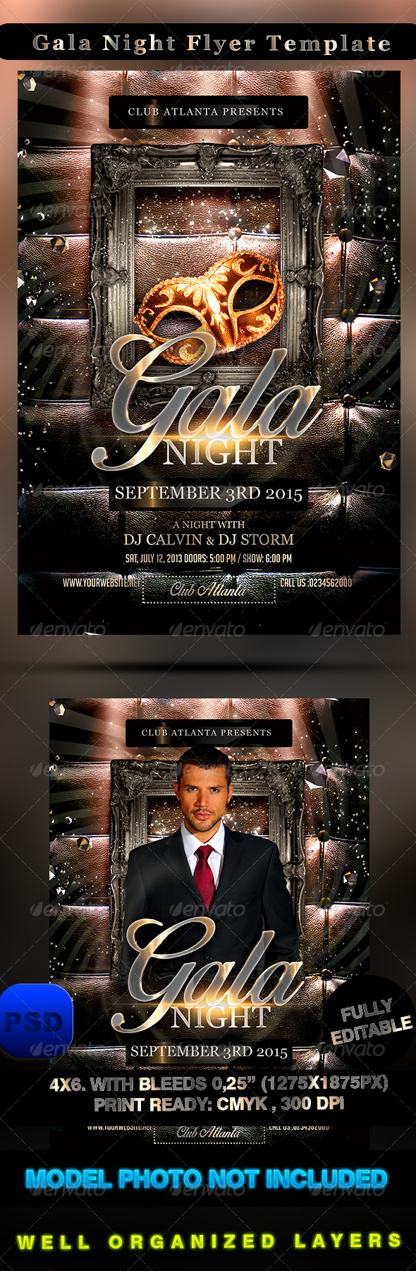 GraphicRiver Gala Night Flyer Template 8536977