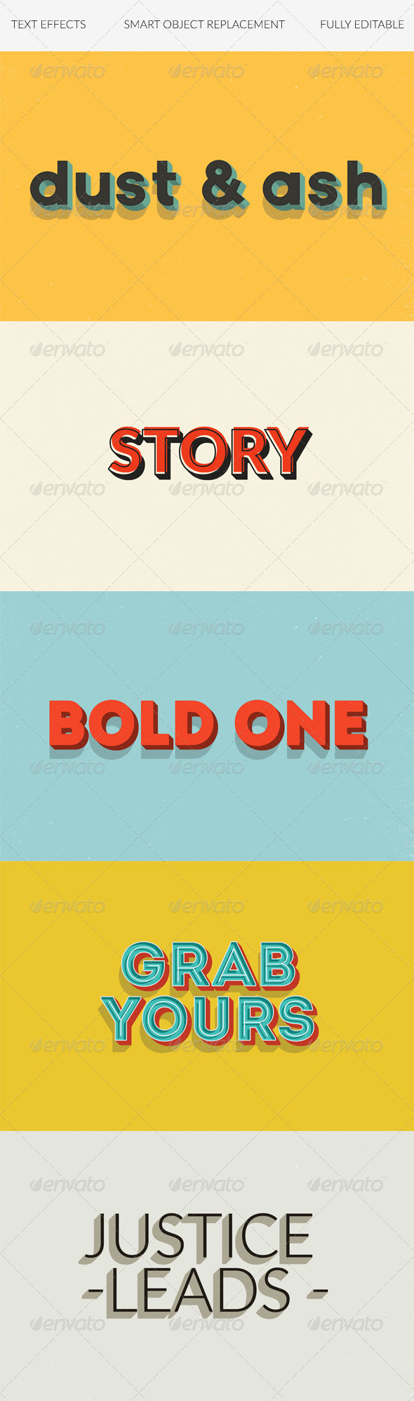 GraphicRiver Text Effects Vintage 3D Retro vol 3 8537113