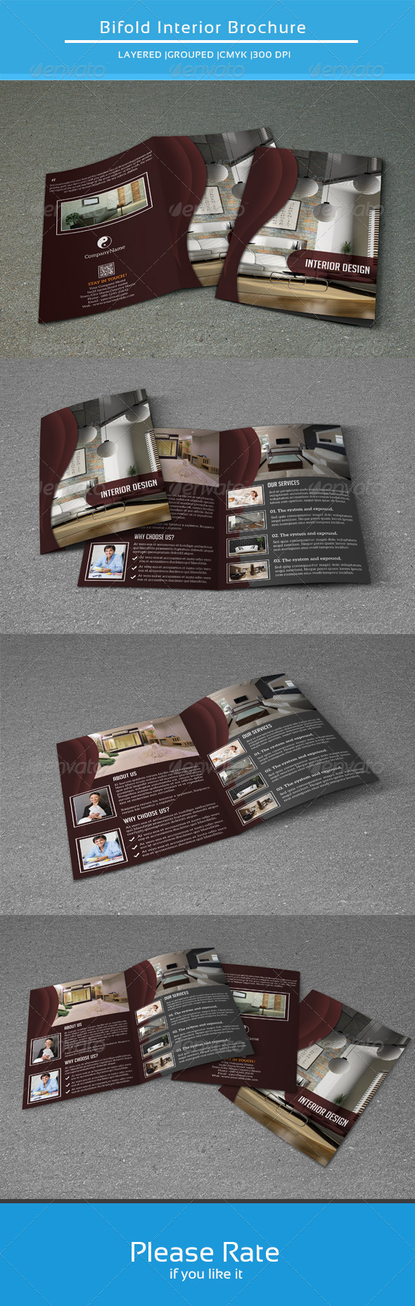 GraphicRiver Bifold Brochure for Interior Design-V108 8537119