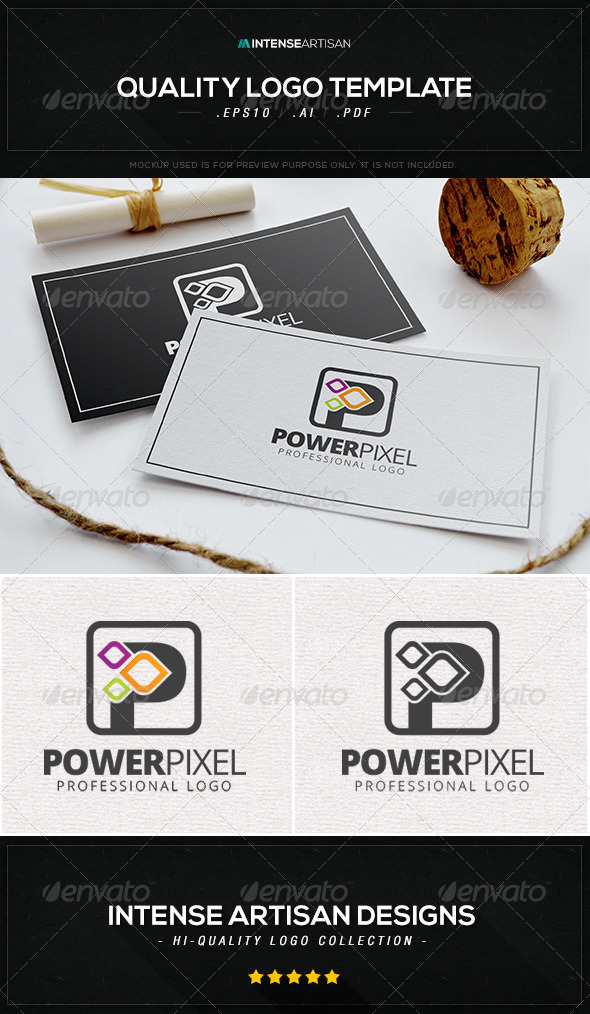GraphicRiver Power Pixel Logo Template 8537121