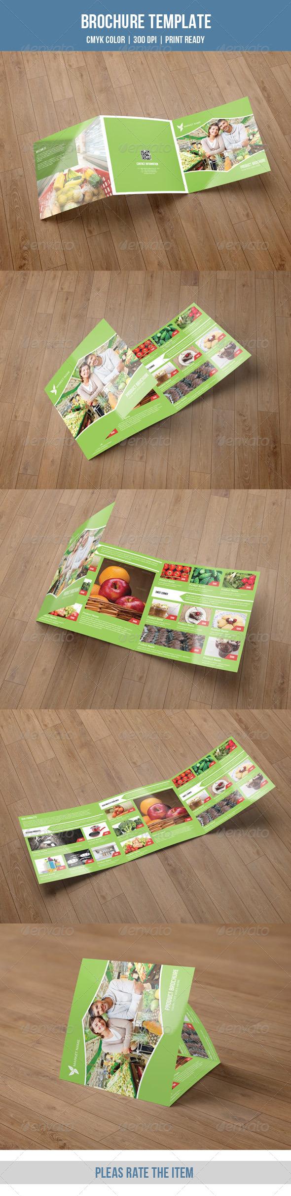 GraphicRiver Square Trifold for Supper Shop-V30 8537128