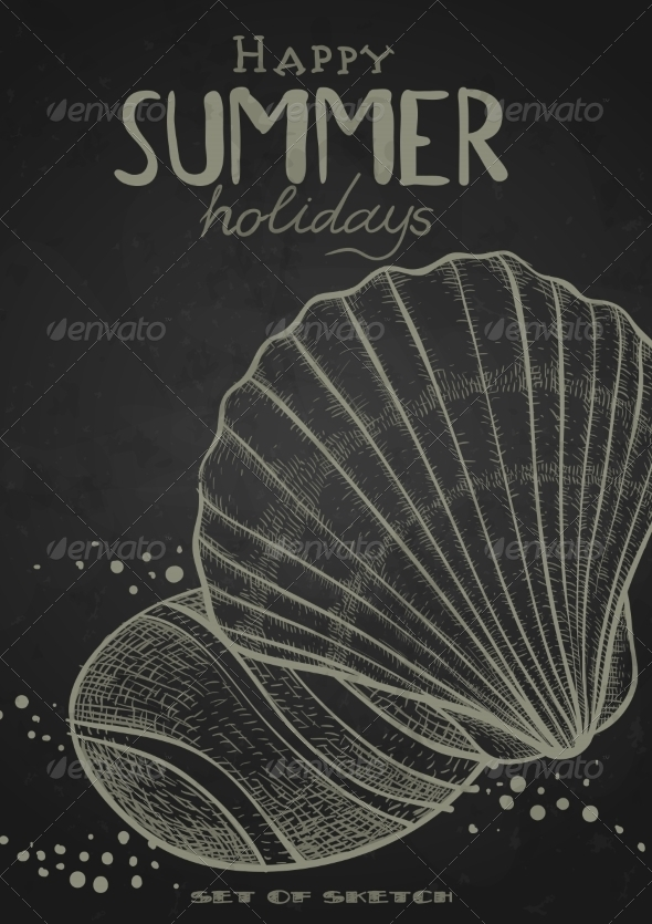GraphicRiver Stylized Drawing With Chalk On Blackboard 8537296