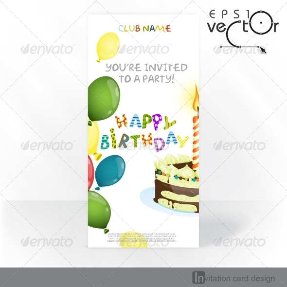Party Invitation Card Design Template