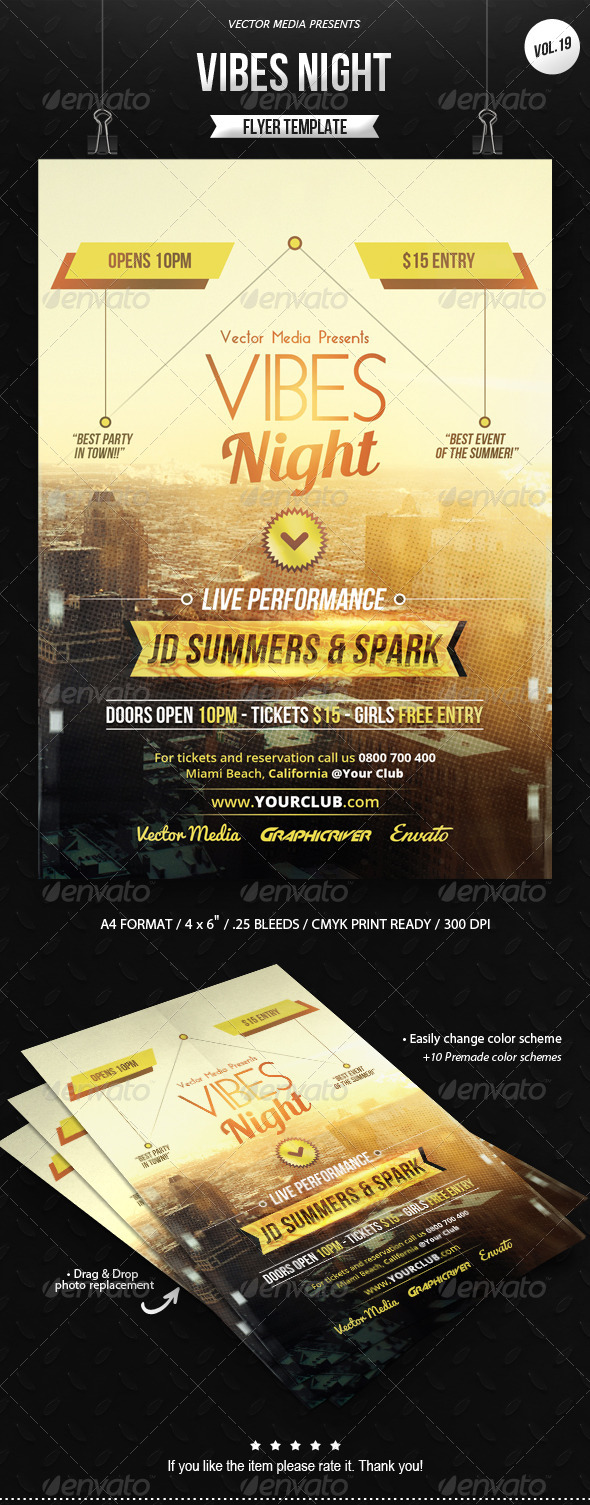 GraphicRiver Vibes Night Flyer [Vol.19] 8532079