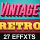 Vintage Retro Text Effects Col 8 - GraphicRiver Item for Sale
