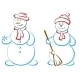 Pair of Snowmen - GraphicRiver Item for Sale