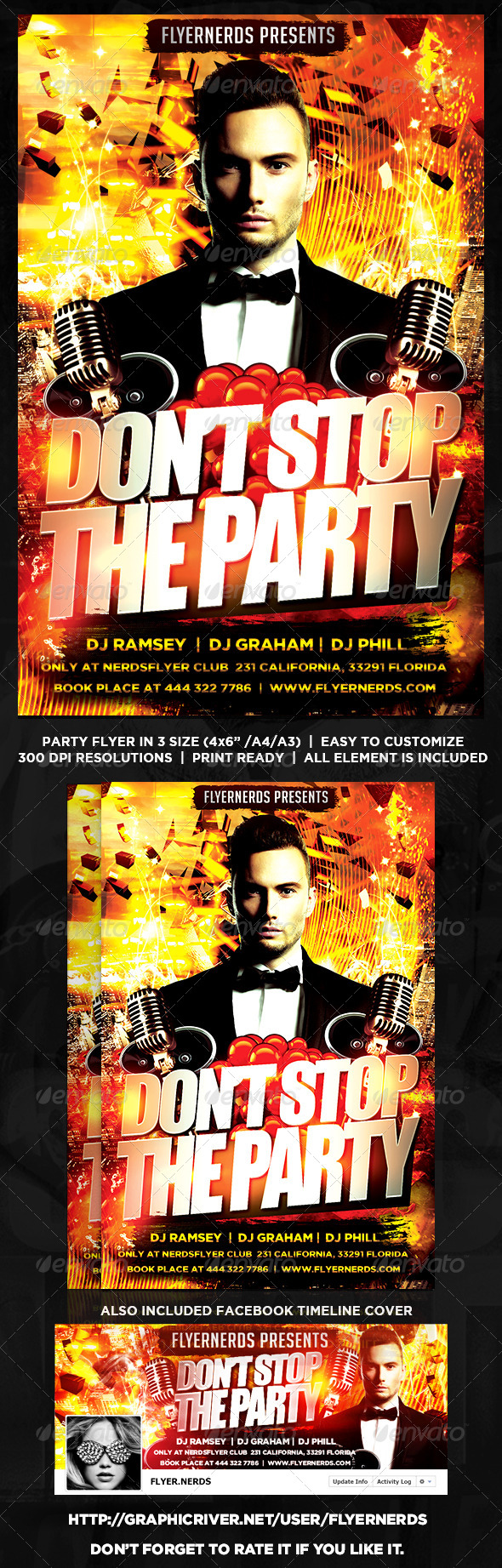 GraphicRiver Dont Stop The Party Flyer 8537342