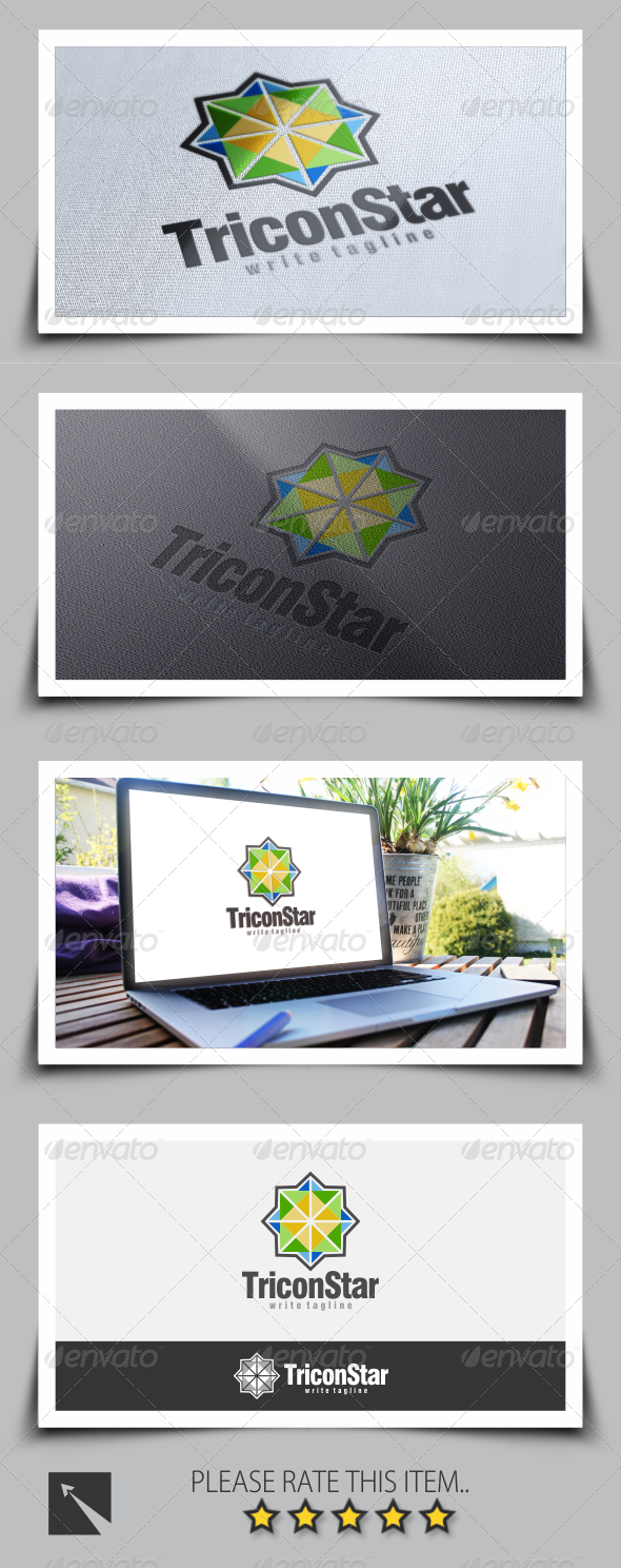 Tricon Star Logo Template