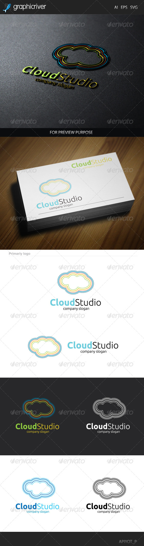 GraphicRiver Cloud Studio Logo 8537462