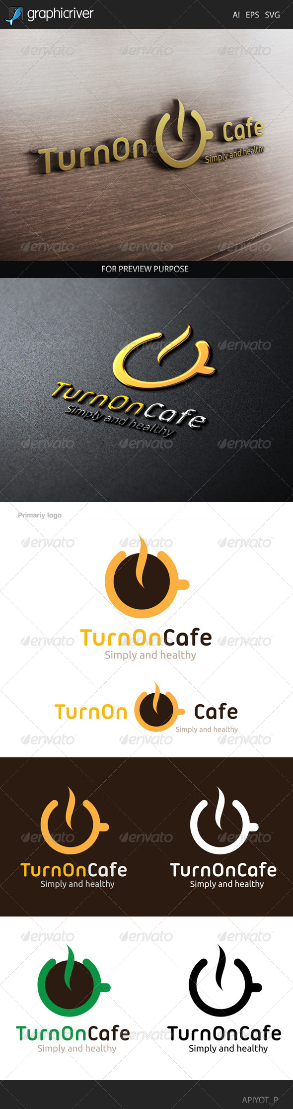 GraphicRiver Turn on Cafe Logo 8537476