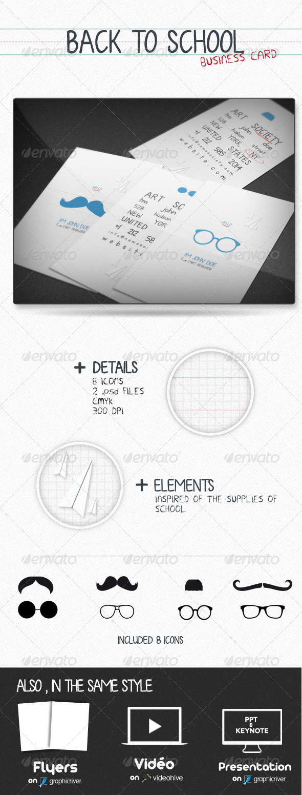 GraphicRiver Back To School Card 867604