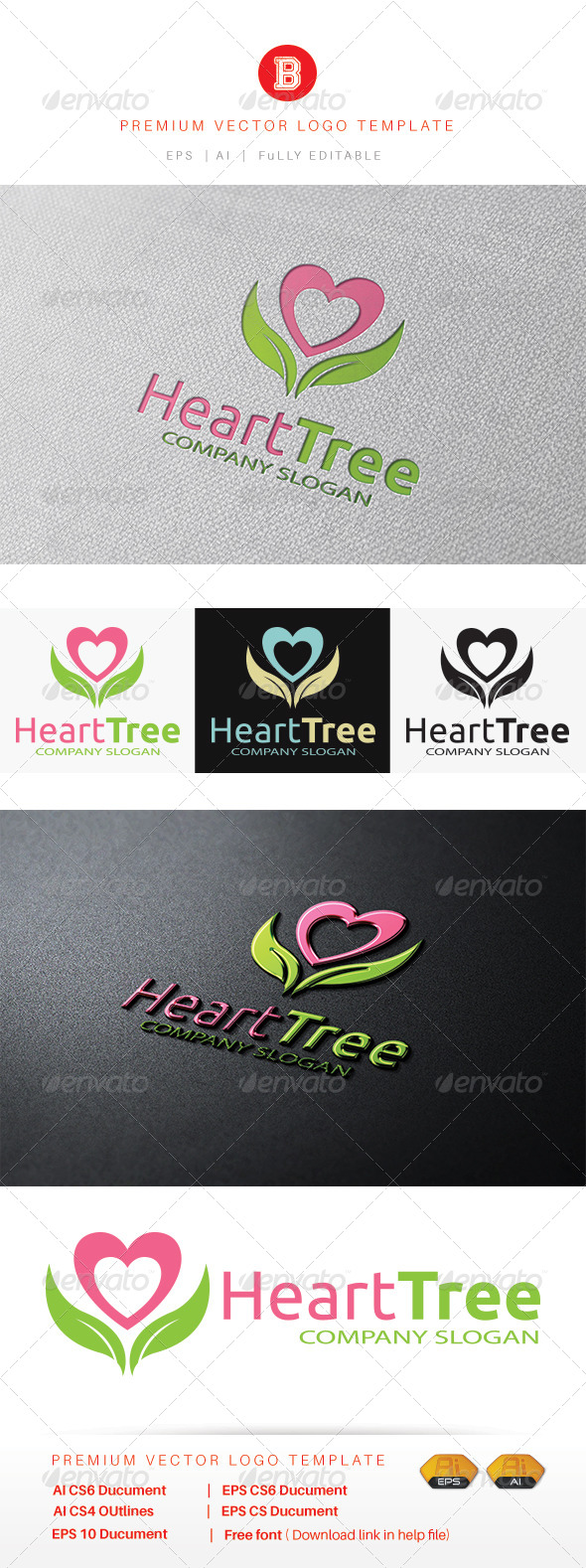 GraphicRiver Heart Tree 8537613