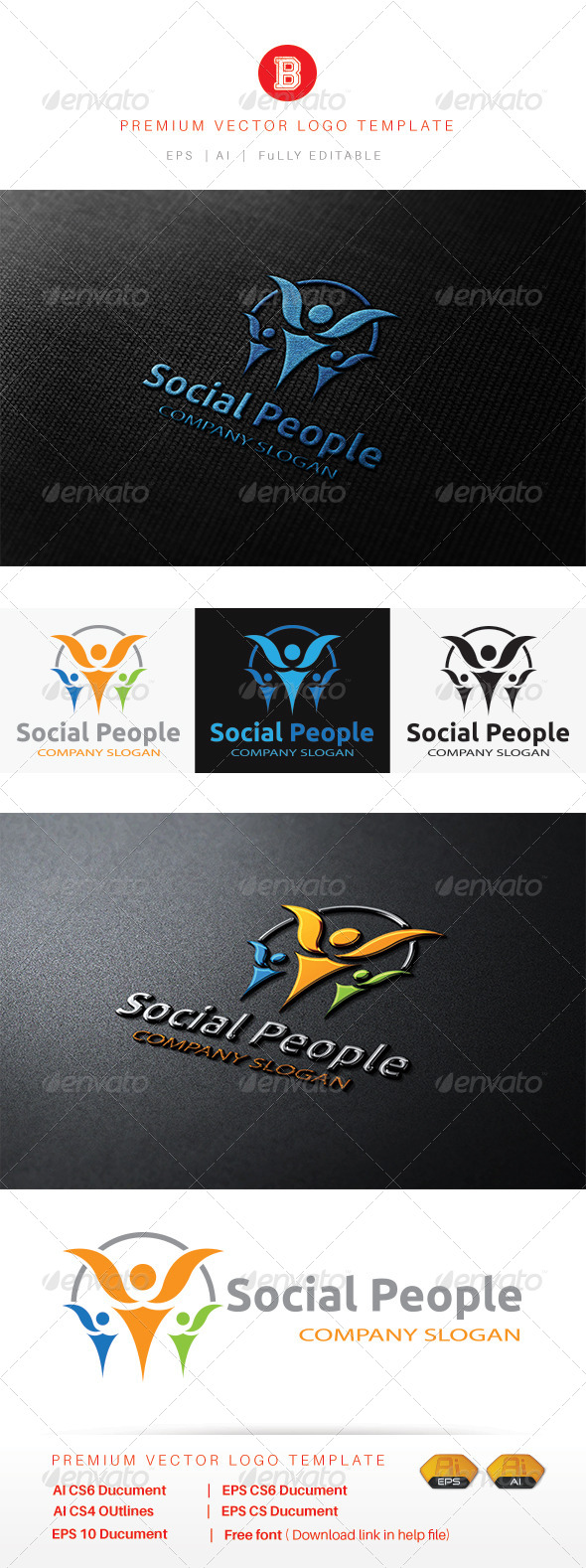 GraphicRiver Social People 8537637