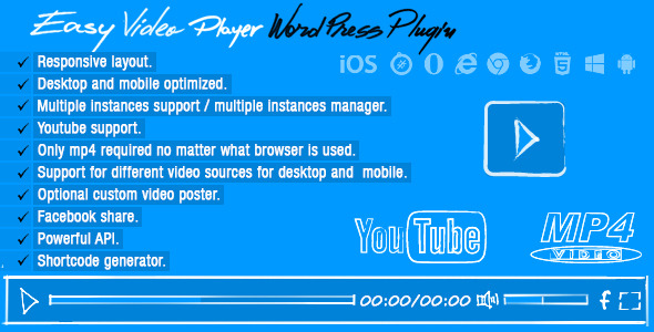 CodeCanyon Easy Video Player Wordpress Plugin 8537670