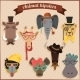 Hipster African Animals  - GraphicRiver Item for Sale