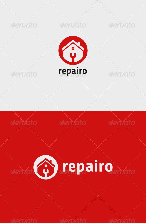 GraphicRiver House Repairo Logo 8537679