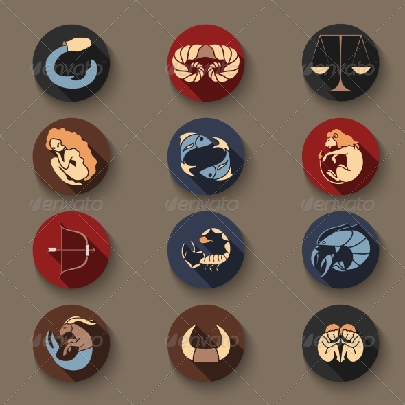GraphicRiver Set of Zodiac Icons 8537697