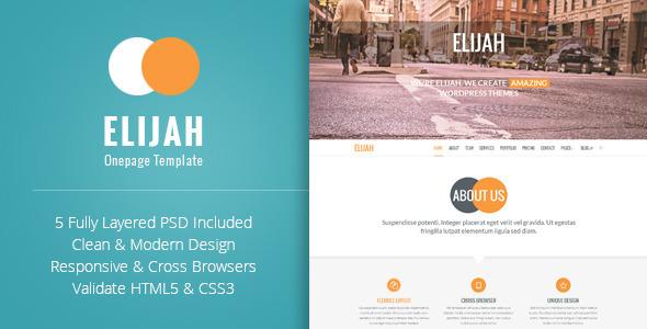 ThemeForest Elijah Multipurpose Onepage HTML Template 8520478