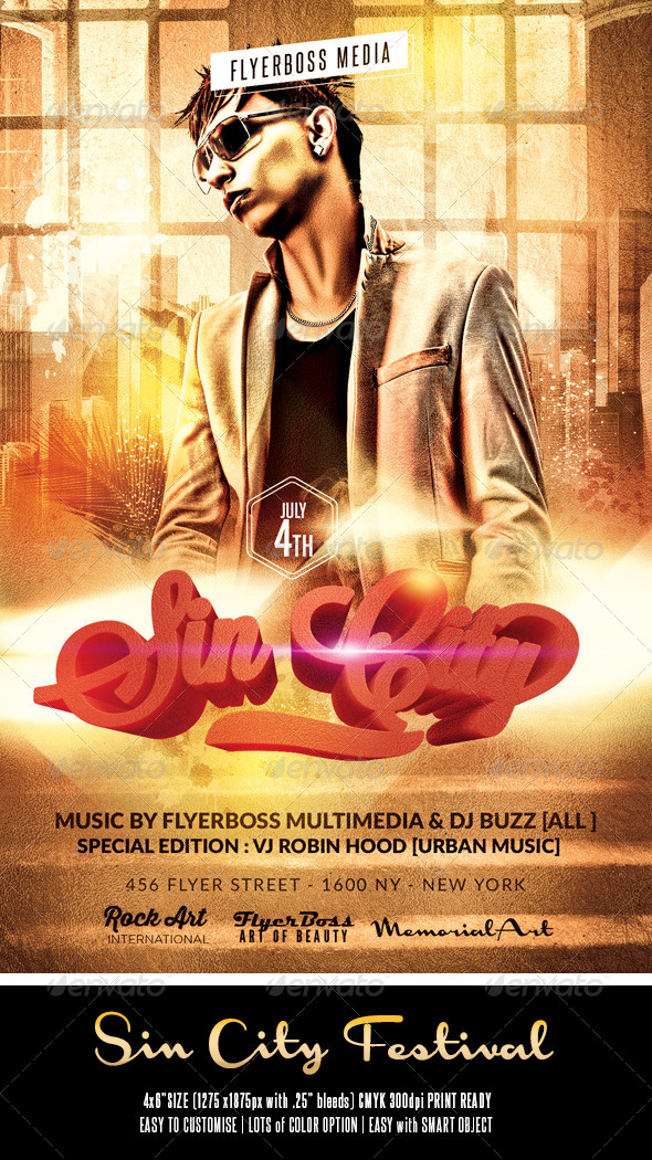 GraphicRiver Sin City Flyer 8537787