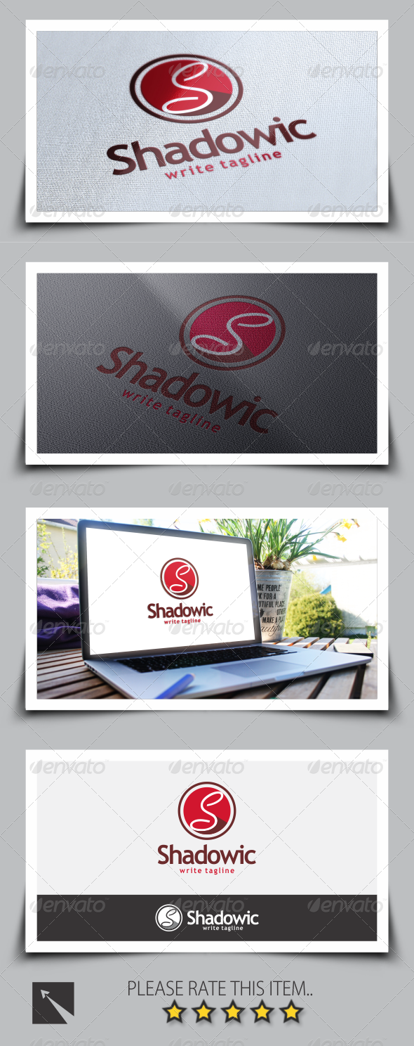 Shadowic Letter S Logo Template