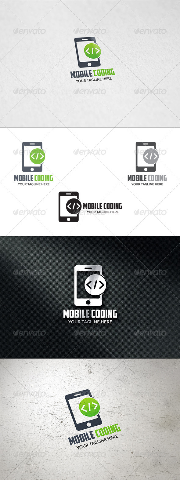 GraphicRiver Mobile Coding Logo Template 8537873