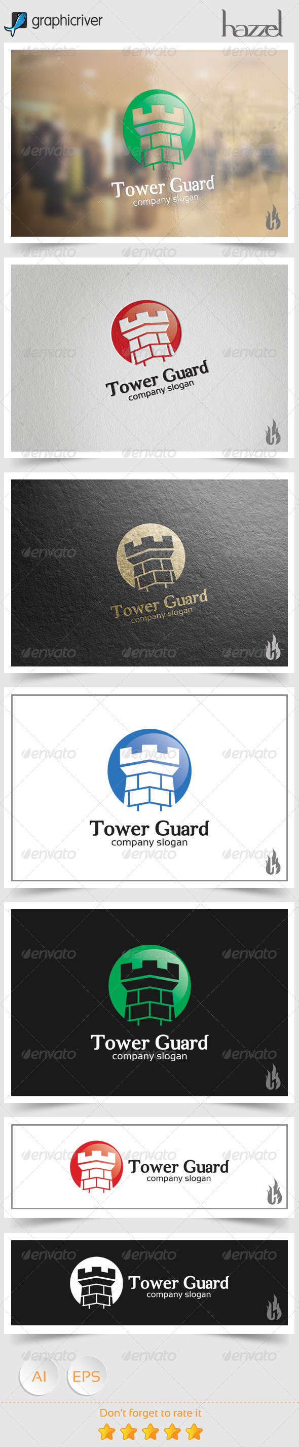 GraphicRiver Tower Guard Logo 8538638