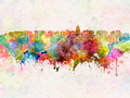 Madison skyline in watercolor background - PhotoDune Item for Sale