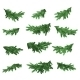 Christmas Tree Green Branches Set - GraphicRiver Item for Sale