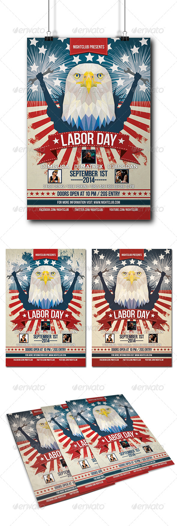 GraphicRiver Labor Day Party Flyer 8539123