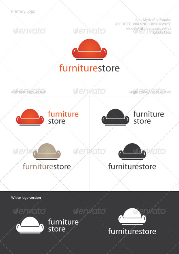 FurnitureStore - Objects Logo Templates