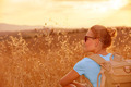 Enjoying wheat field in sunset - PhotoDune Item for Sale