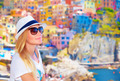 Traveler girl enjoying colorful cityscape - PhotoDune Item for Sale