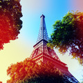 Eiffle Tower filter art photography. Paris. France - PhotoDune Item for Sale