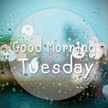 Good morning Tuesday with water drops background with copy space - PhotoDune Item for Sale