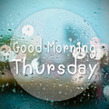 Good morning Thursday with water drops background with copy spac - PhotoDune Item for Sale