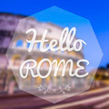 Hello Rome Italy background greeting card. - PhotoDune Item for Sale