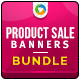 Product Sale Banner Bundle - 3 Sets - GraphicRiver Item for Sale