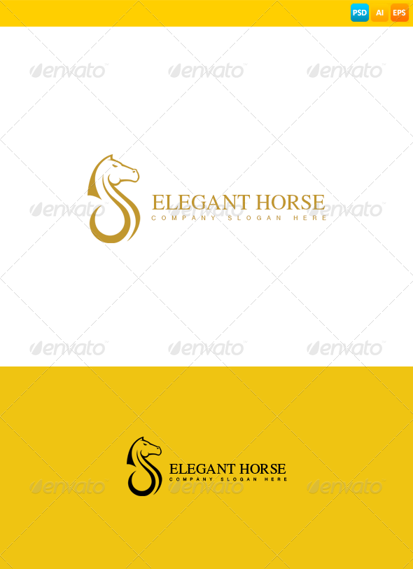 GraphicRiver Horse Logo 8539443