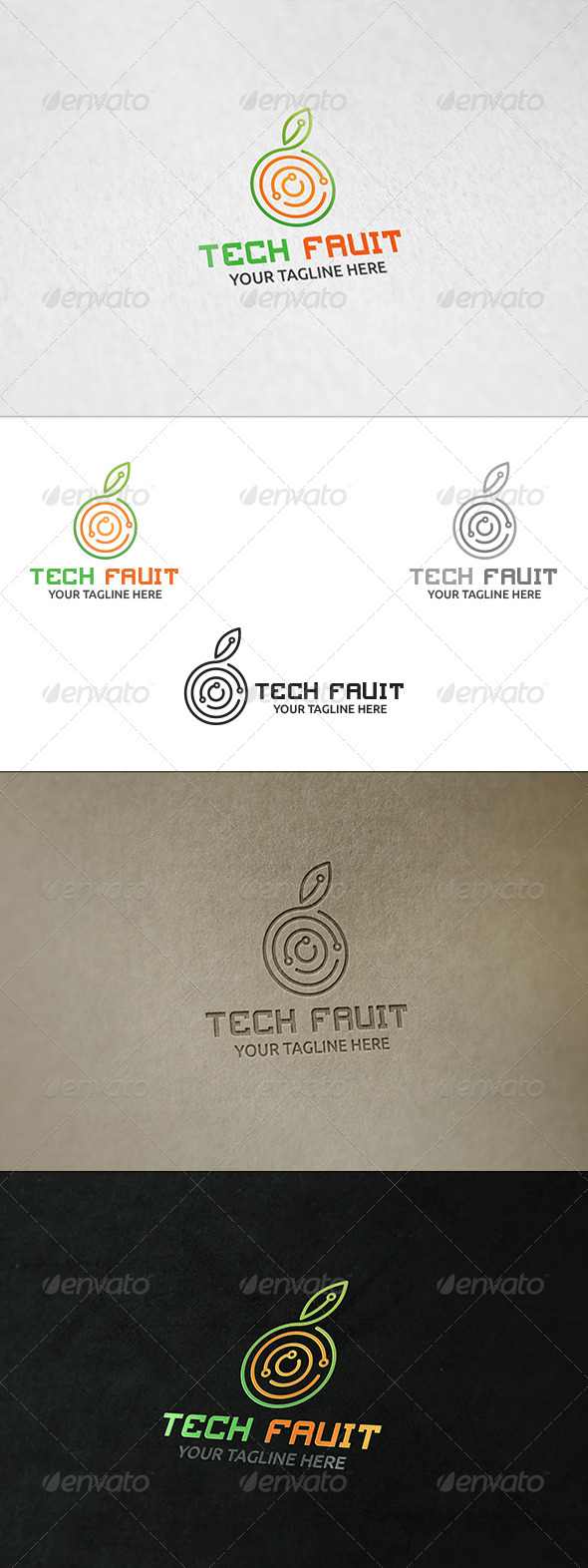 Tech Fruit Logo Template