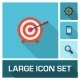 Vector Flat Colored Icons Set With Long Shadows - GraphicRiver Item for Sale