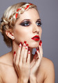 Young woman with red nails - PhotoDune Item for Sale