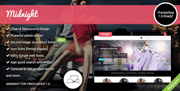 Midnight Responsive Prestashop 1.6 Theme