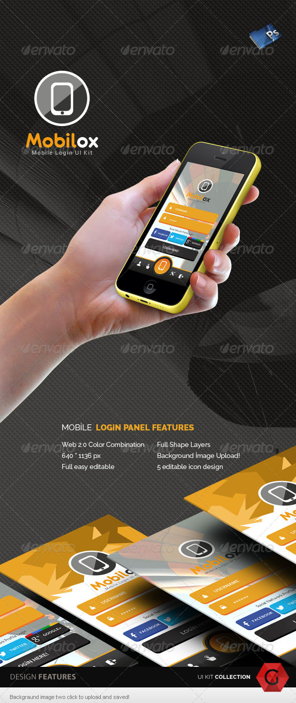 GraphicRiver Mobilox Login UI Kit v2 5658011